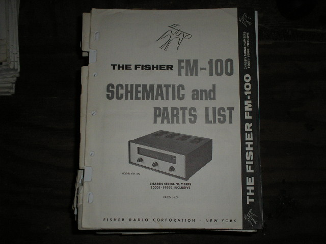 FM-100 Tuner Service Manual for Serial no. 10001 - 19999.   Contains the schematic and parts list...