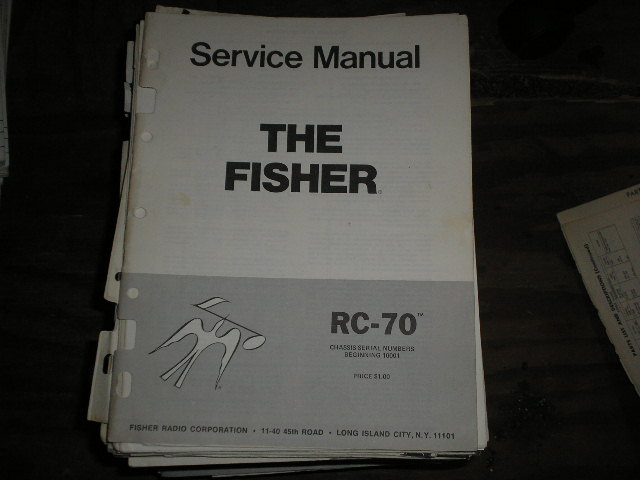 RC-70 Cassette Deck Service Manual for Serial no. 10001 and up