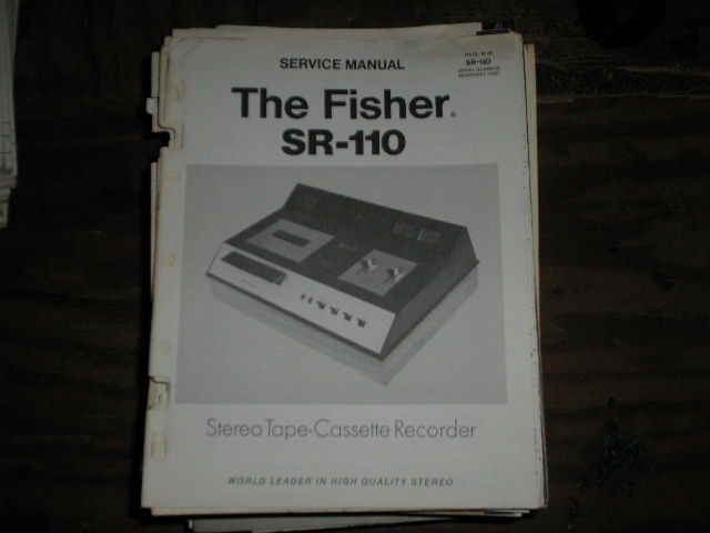 SR-110 Cassette Deck Service Manual
