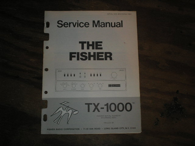 TX-1000 Amplifier Service Manual from Serial no. 10001