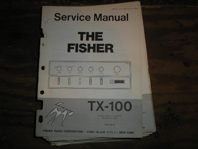TX-100 Service Manual for Serial no. 10001 and up