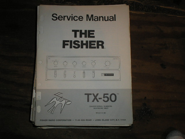 TX-50 Amplifier Service Manual  for Serial no. 10001 and up