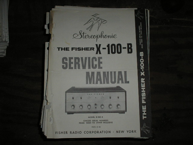 X-100-B Control Amplifier Service Manual for Serial no. 10001 - 19999