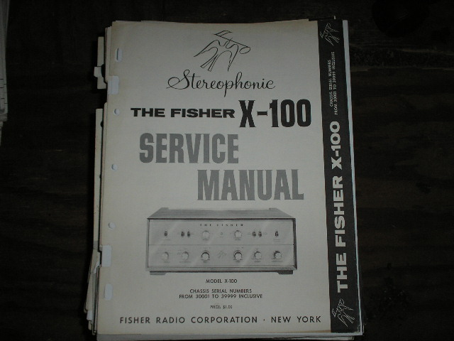 X-100 Control Amplifier Service Manual for Serial no. 30001 - 39999