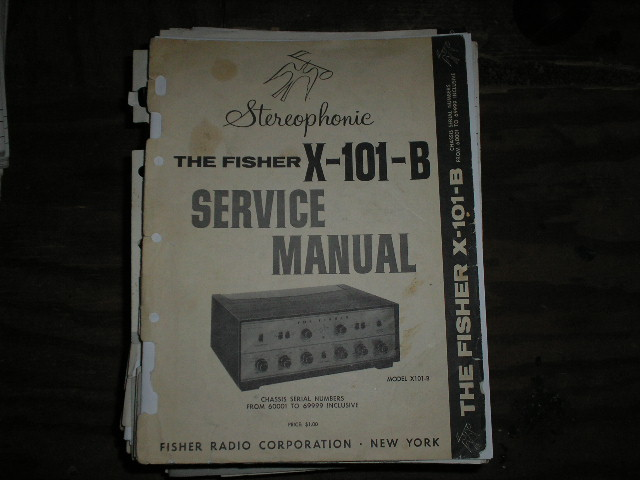 X-101-B Control Amplifier Service Manual for Serial no. 60001 - 69999