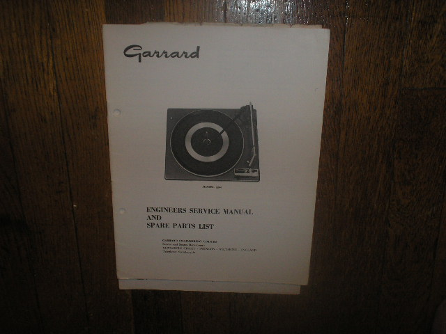 3500 Turntable Service Manual  GARRARD