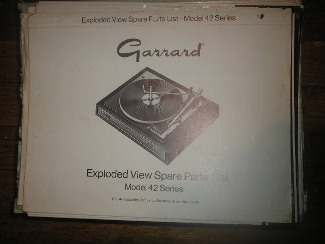 42 Series Turntable Exploded View and Parts Manual  GARRARD