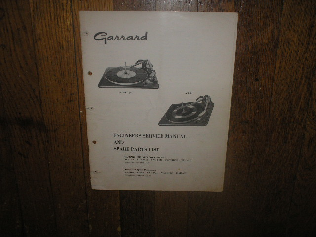 50 AT-60 Turntable Service Manual  GARRARD