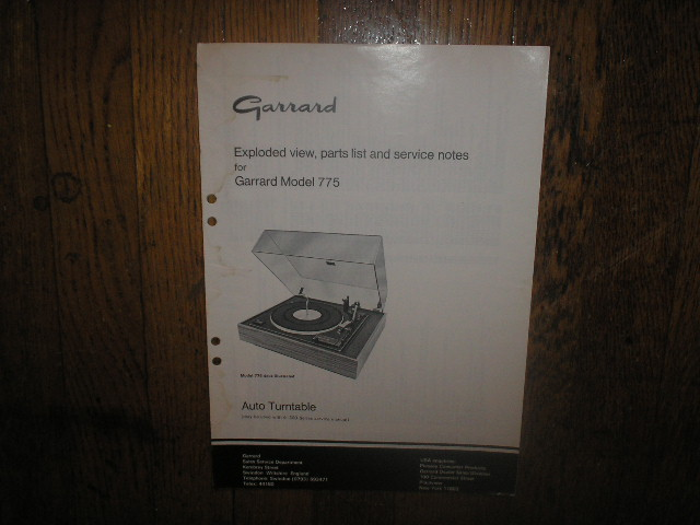 990B Turntable Service Manual  GARRARD