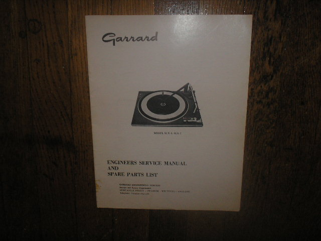 SLX SLX-2 Turntable Service Manual  GARRARD