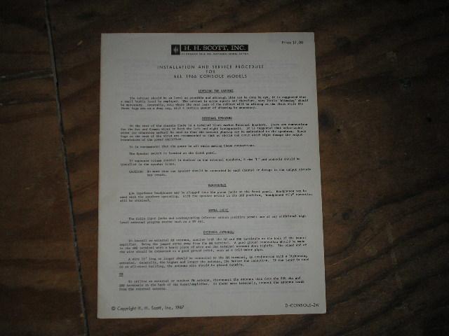 1966 COMPACT UNITS SERVICE MANUAL