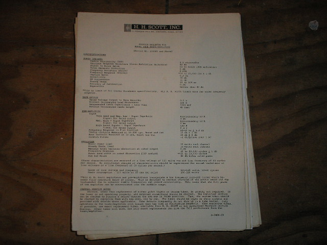 340-B Tuner Service Manual 2 for Serial # 235581 and up.... Schematic dated July 17th 1963..has an updated date on the schematic of March 24th 1964..