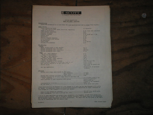 340 Tuner Service Manual. Schematic Dated April 17th 1962..has an updated date on the schematic of June 27 1962