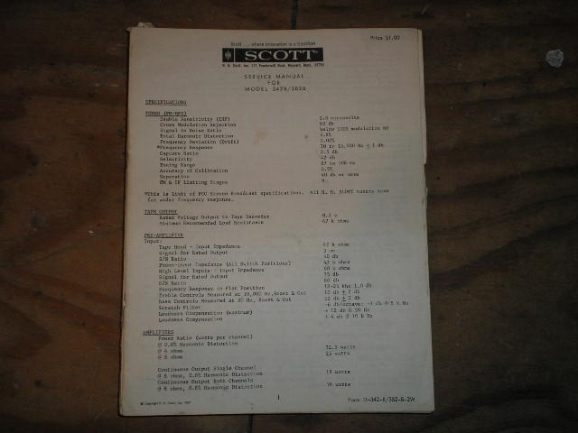 342-B 382-B  Tuner Amplifier Service Manual