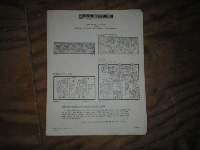 342 Tuner Amplifier Service Manual.. Schematic is dated September 28th 1963