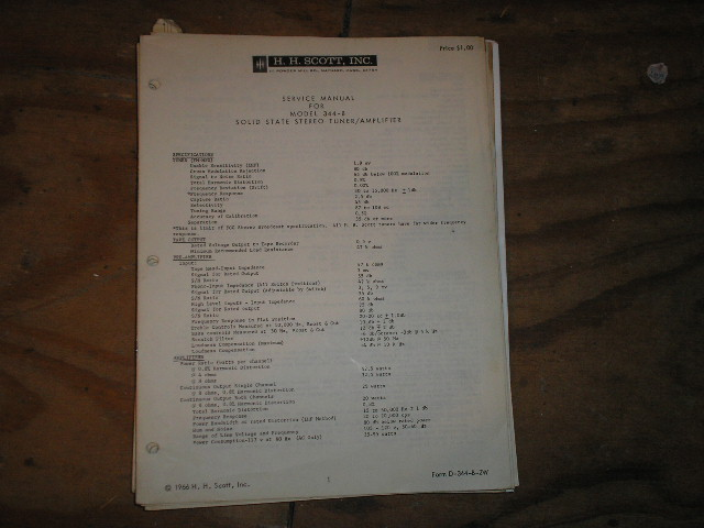 344-B Tuner Amplifier Service Manual 2 .