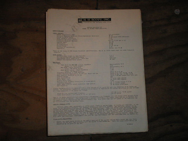 345 Tuner Amplifier Service Manual.. Schematic is dated January 31st 1964