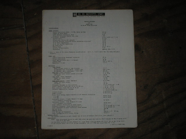 388 Tuner Amplifier Service Manual for Serial No.375915