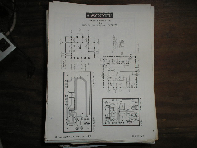 HHS-20 Receiver Service Manual  H.H. Scott