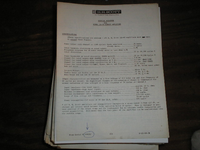 LK-48B Stereo Amplifier Service Manual for Serial # 199261 and up. Schematic is dated September 2nd 1963.