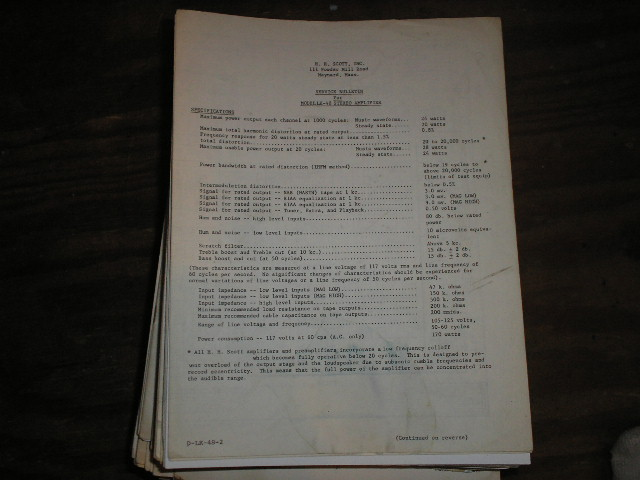 LK-48 Stereo Amplifier Service Manual.. Schematic is dated July 19th 1961