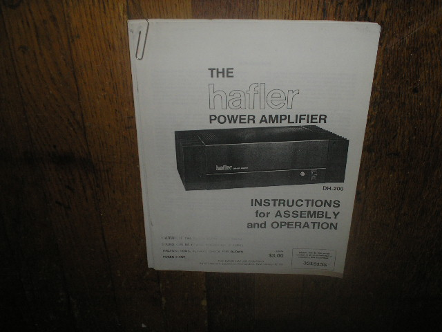 DH-200 Power Amplifier Service Assembly Manual