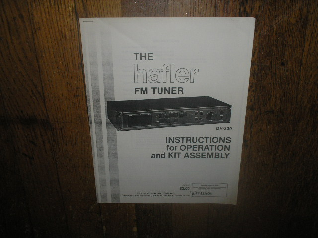 DH-330 Power Amplifier Service Assembly Manual