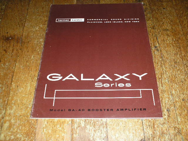 BA-40 Booster Amplifier Service Manual