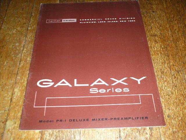 PR-1 Mixer Pre Amplifier Service Manual