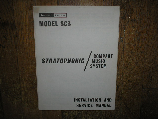 Model SC3 Stratophonic Compact Music System Service Information