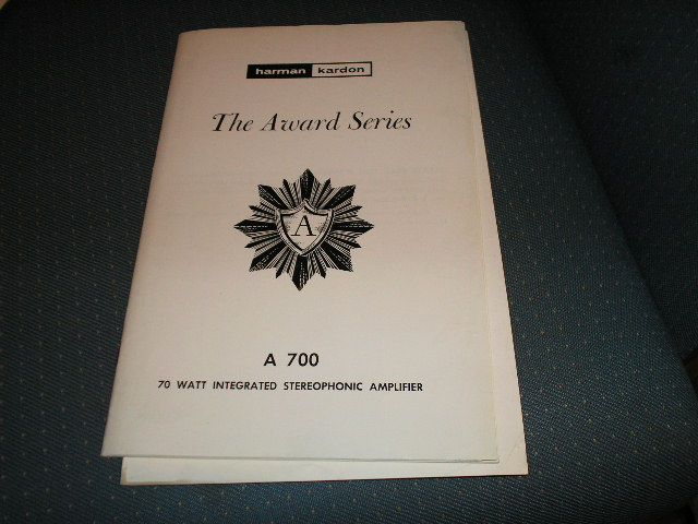 A700 Stereo Amplifier Service Manual with schematic