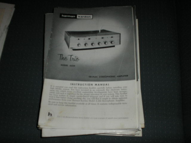 A224 The Trio Stereo Amplifier Service Manual with schematic