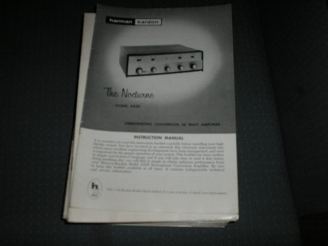 AX-20 THE NOCTURNE Amplifier Service Manual with schematic