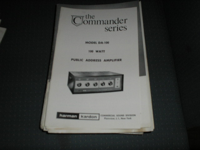 DA-100 P.A. Amplifier Service Manual with schematic