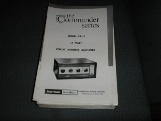 DA-12 P. A . Amplifier Service Manual with schematic