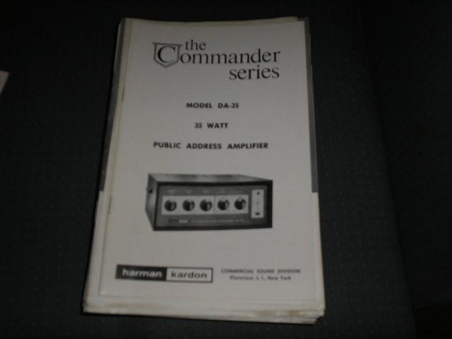 DA-35 P.A. Amplifier Service Manual with schematic