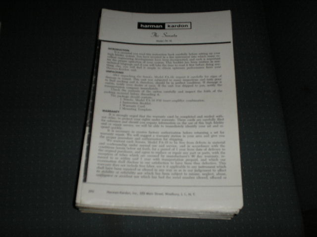 FA-10 The Sonata Amplifier Tuner Service Manual with schematic