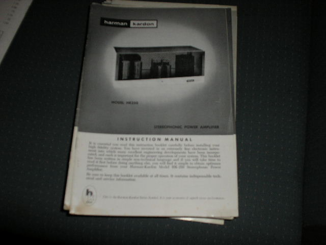 HK250 POWER AMPLIFIER MANUAL with schematic