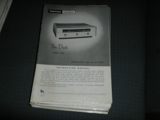 T224 THE DUET AM FM TUNER MANUAL with schematic