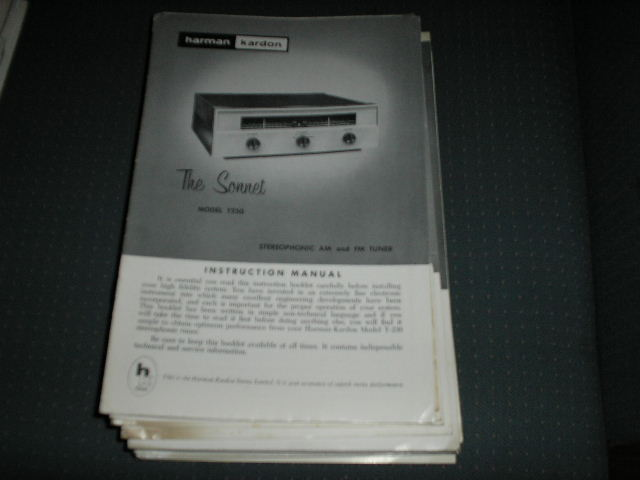 T230 THE SONNET AM FM TUNER MANUAL with schematic