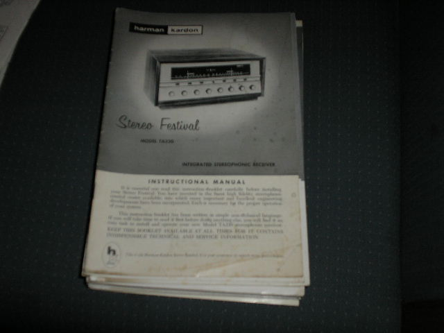 TA230 STEREO FESTIVAL  RECEIVER MANUAL with 