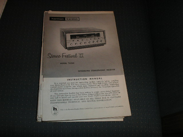TA260 STEREO FESTIVAL 2 RECEIVER MANUAL with 