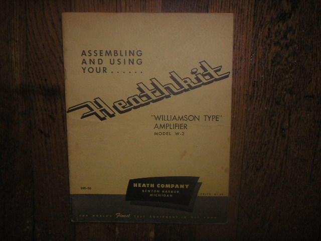 W-2 Williamson Type Amplifier Assembly Service Manual with Schematic