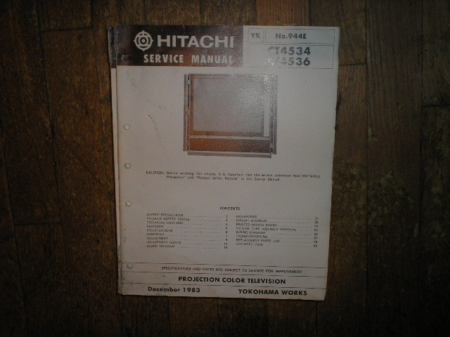 CT4534 CT4536 Projection TV Service Manual VP3X2 Chassis