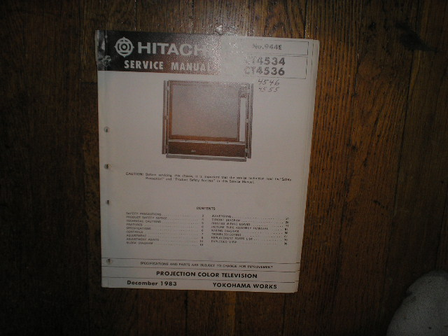 CT4546 CT4555 CT4534 CT4536 Projection TV Service Manual. VP3X2 Chassis