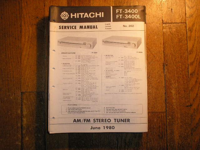 FT-3400 FT-3400L AM FM Tuner Service Manual