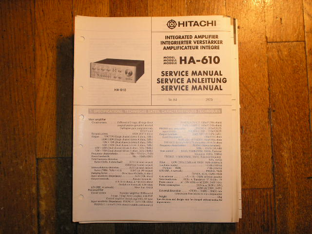 HA-610 Stereo Amplifier Service Manual