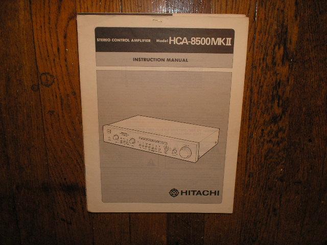 HCA-8500 MK II 2 Stereo Control Amplifier Instruction Manual