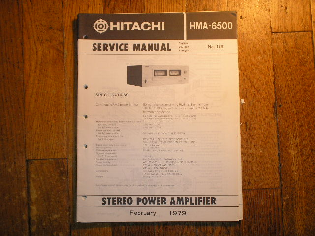 HMA-6500 Stereo Power Amplifier Service Manual