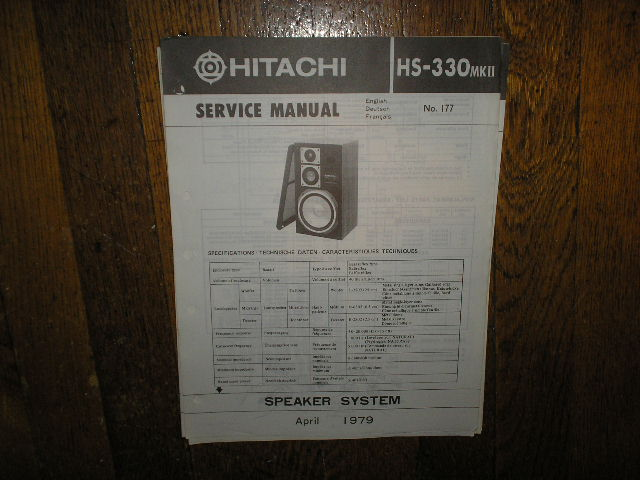 HS-330 MK II 2 Speaker System Service Manual